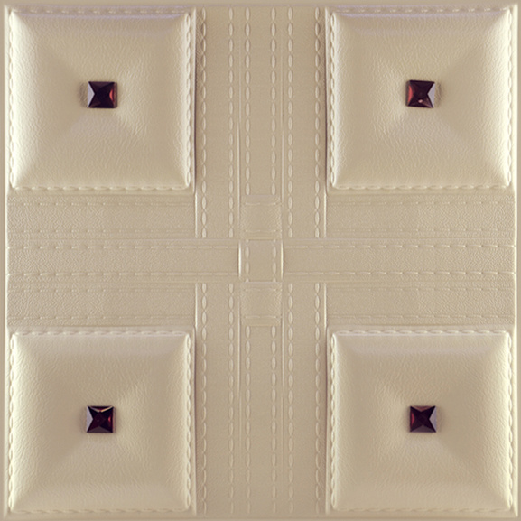 3D Carved Embossed Faux Leather Wall Panels