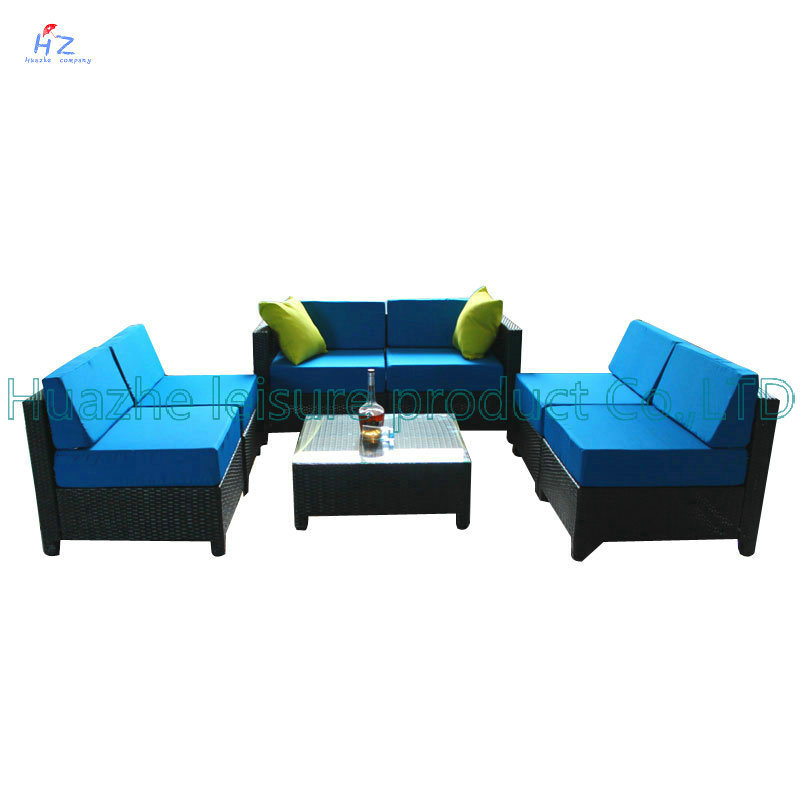 Wicker Sofa Outdoor Rattan Furniture Chair Table Wicker Furniture Rattan Furniture for Outdoor Furniture with Sofa Set