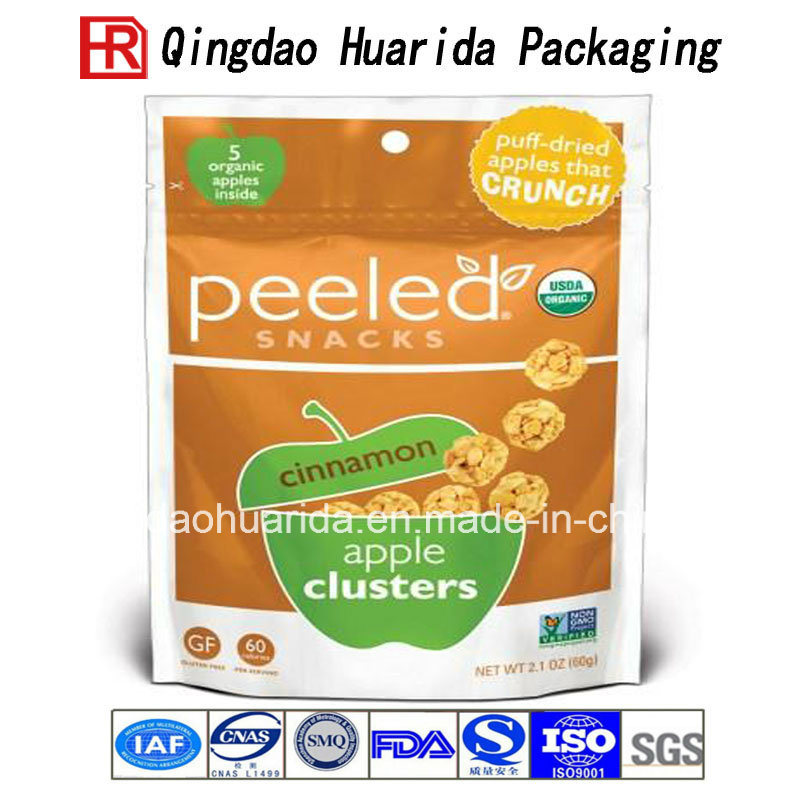 Custom Food Plastic Packaging Bag Snack Flat Packing Pouch