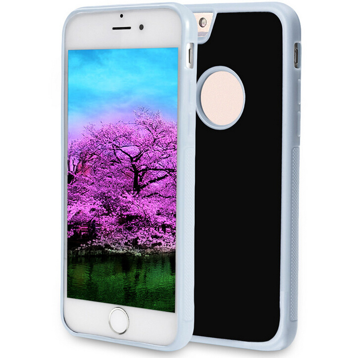 Hand Free PC+TPU iPhone 7 Nano Suction Magical Anti Gravity Case with Round Logo Hole