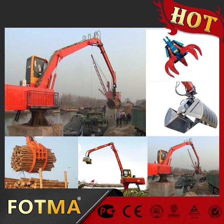 Swing Stone Gripper Crane Material Handling Equipment