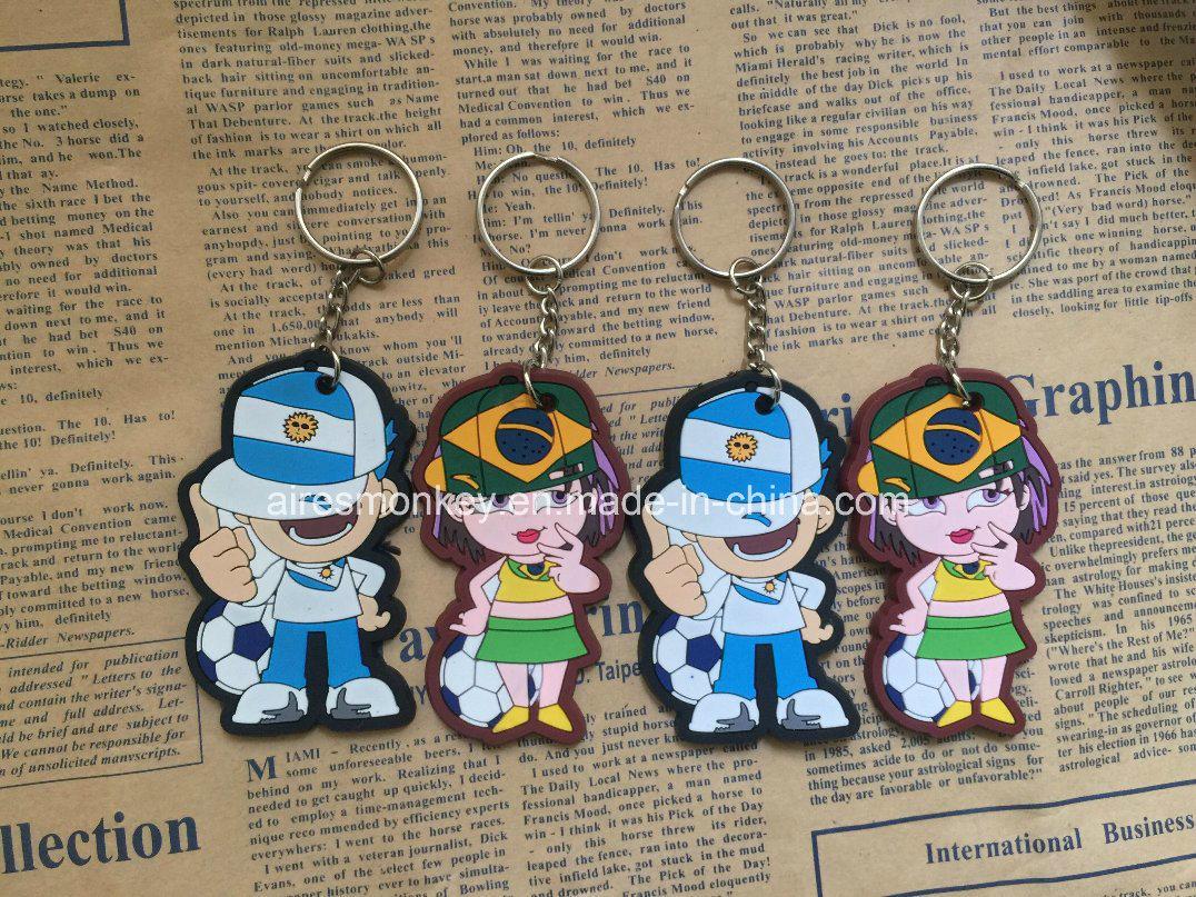 Promotional Soft PVC Keychain/Silicone Cartoon Keychain