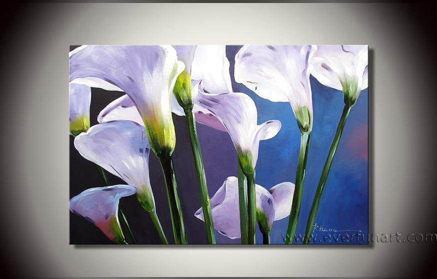 The gallery for modern flower painting for Modern flower paintings