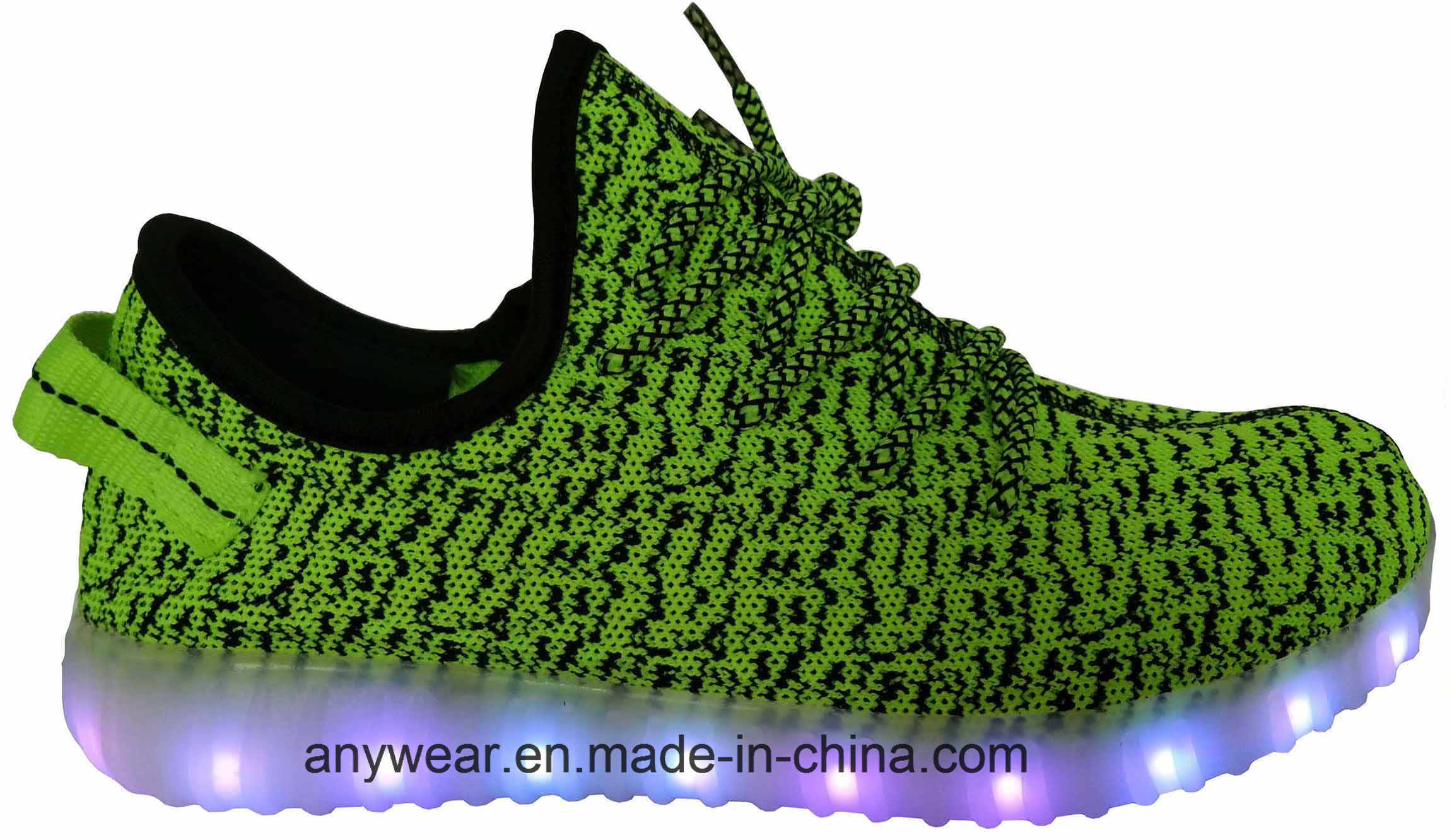 Athletic Footwear Flyknit LED Light Sports Shoes (816-7914)