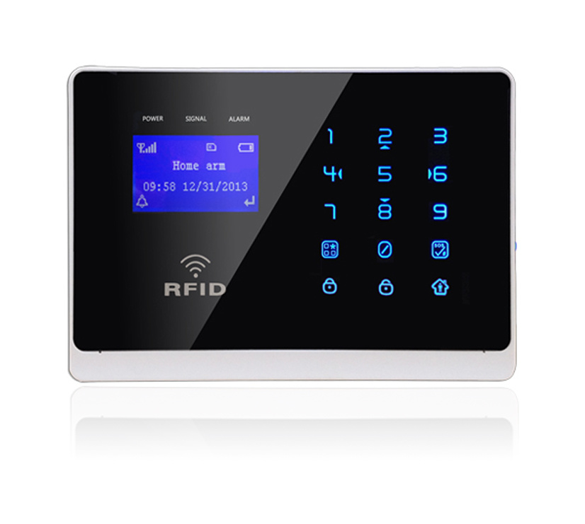 GSM Wireless Home Security Burglar Alarm with Touch Keypad (YL-007M2FX)