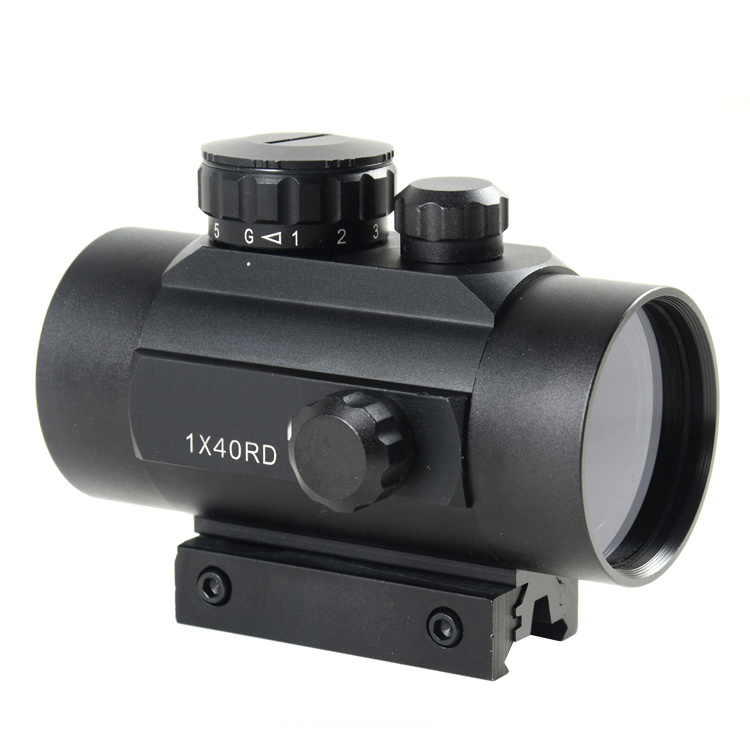 Tactical 1X40 R&G DOT Sight Scope W/10mm-20mmweaver Mount (D-10)