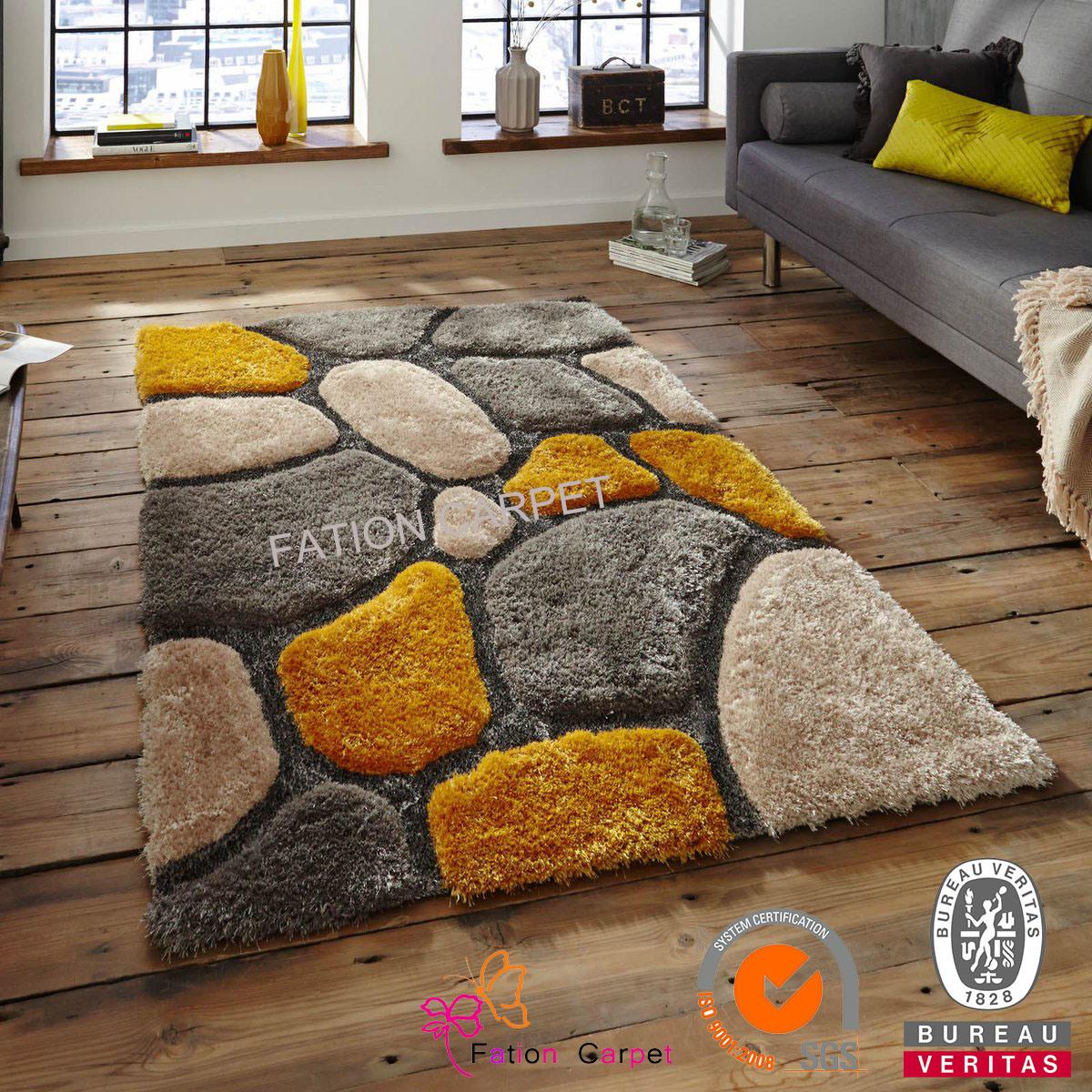 2016 New Design Long Pile Carpet Polyester Area Carpet