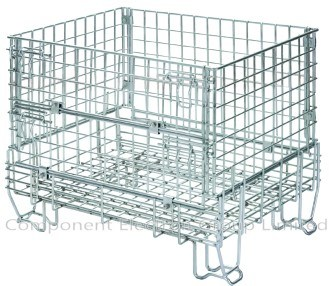 Wire Mesh Storage Cages, Steel Cage, Stackable Cage, Supermarket Cage, Mesh Container