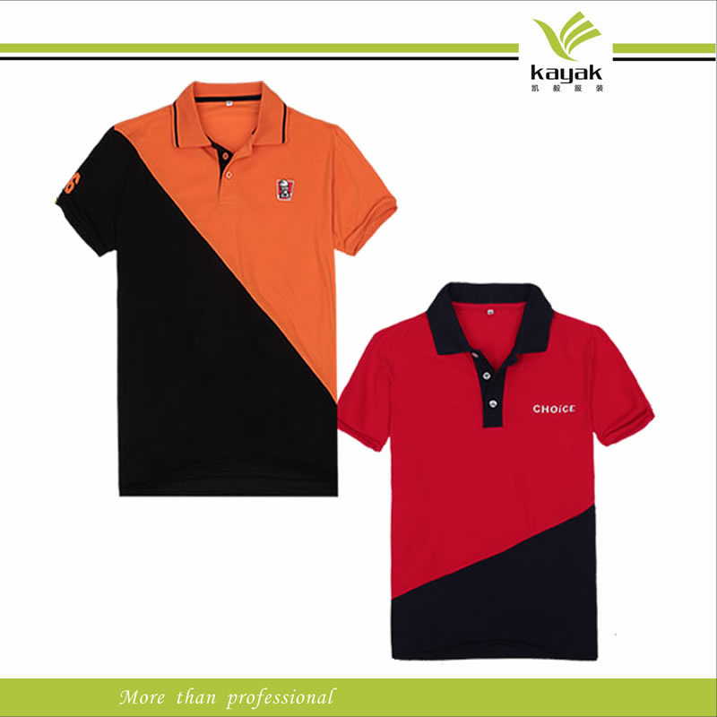 china custom embroidery promotional color combination polo