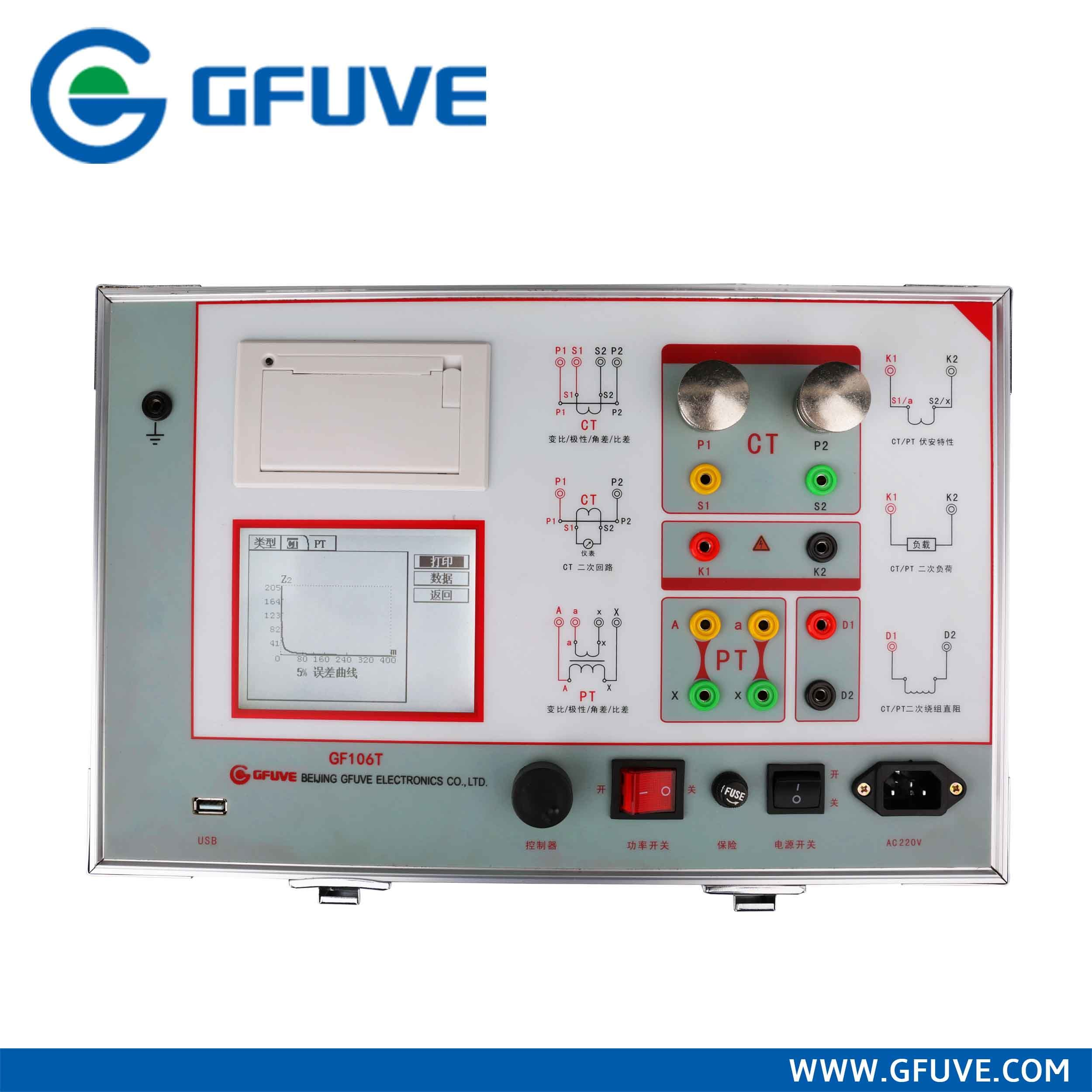 GF106t Class 0.05 1000A 2500V Full-Automatic Portable CT Current Transformer Tester