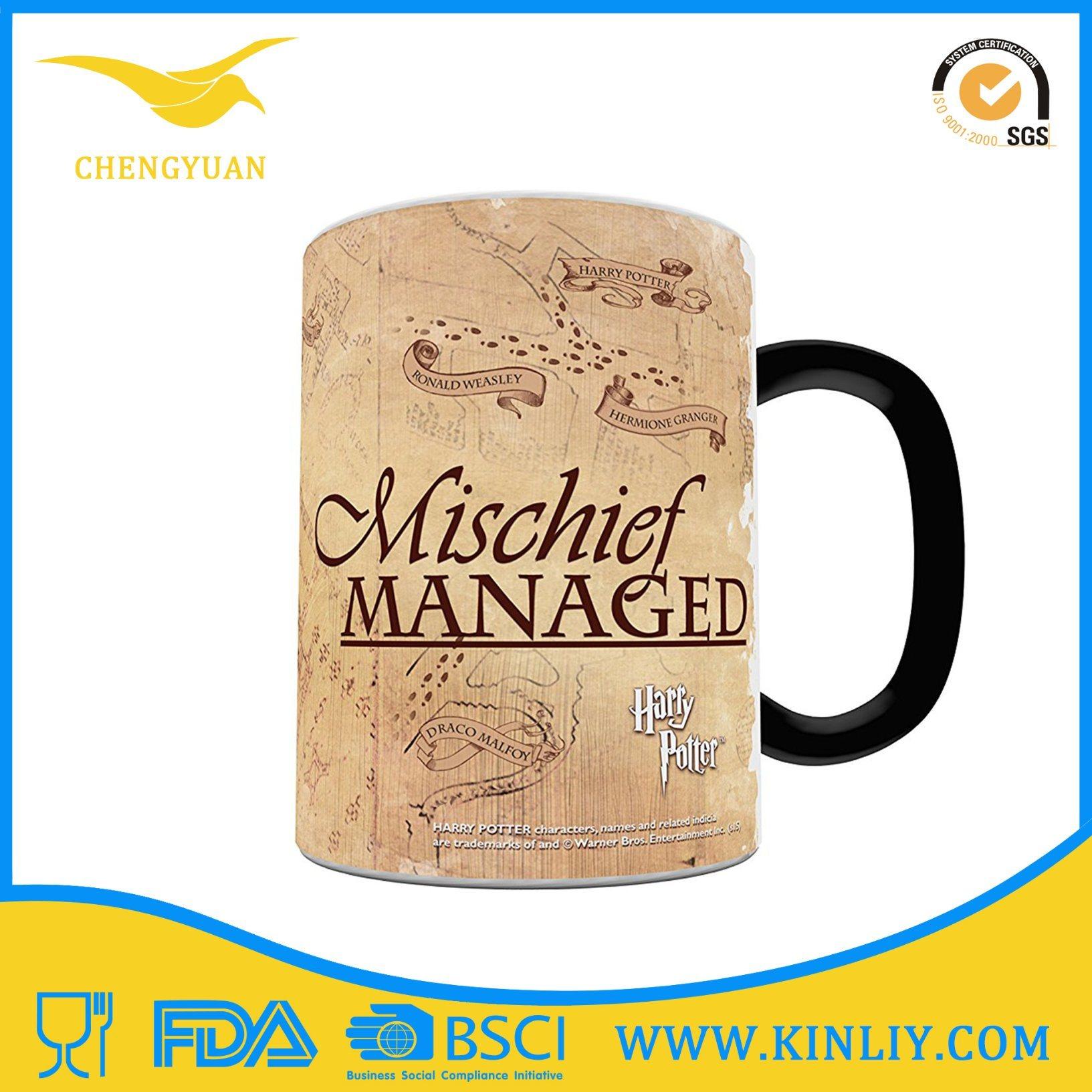 Ceramic Tea Cup Coffee Mug with Funny Doughnut Design