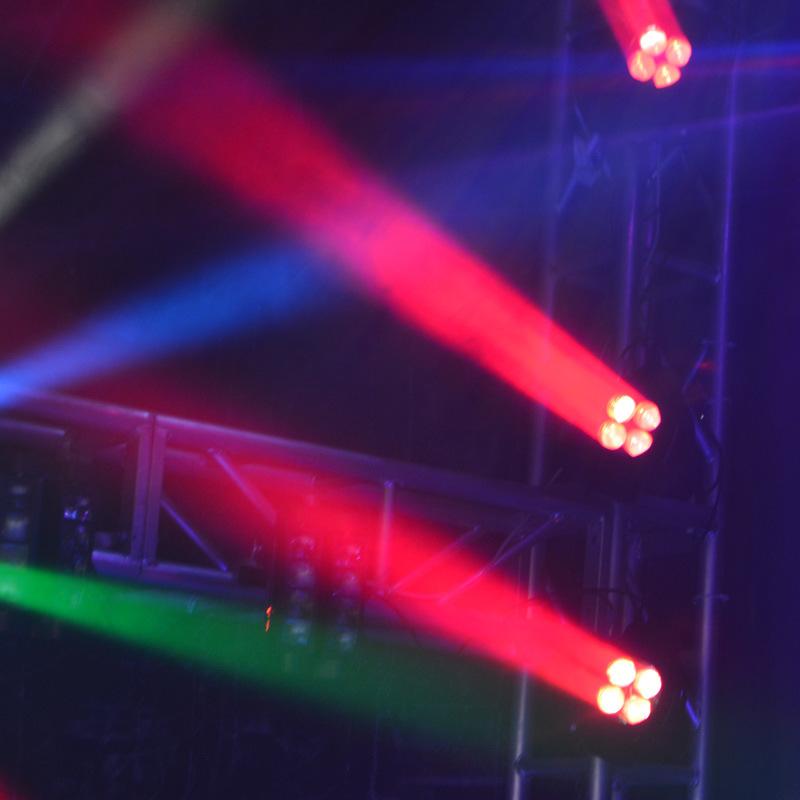 4X25W LED Compact Super Beam Pixel Moving Head Light