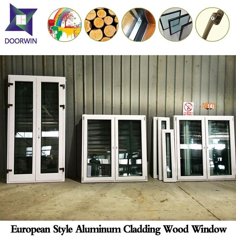 Natural Wood Charm Tilt Opening Triple Glass Window, Hard Oak Wood Casement Window with Aluminium Cladding