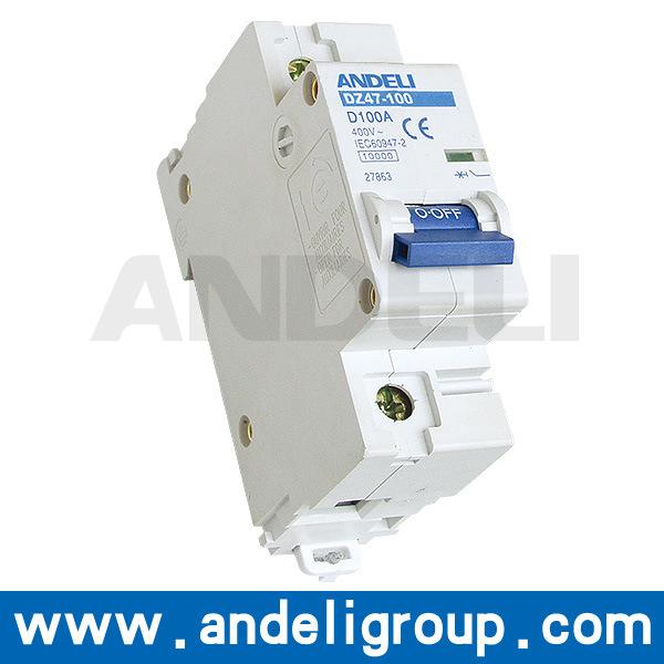 4 Pole 100AMP MCB Miniature Circuit Breaker (DZ47-100)