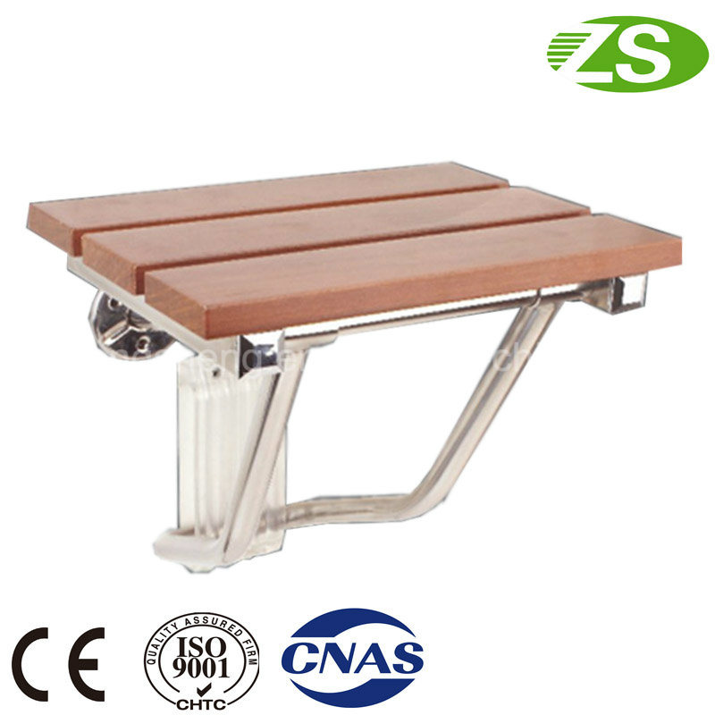HS-a Bathroom Modern Teak Wood Folding Shower Seat, Wall Mounted Shower Seat