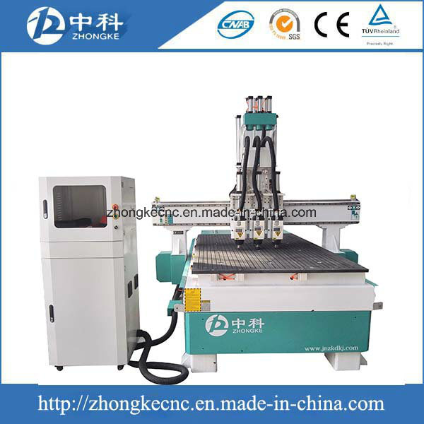 Three Heads Wood CNC Router Machine for Sale