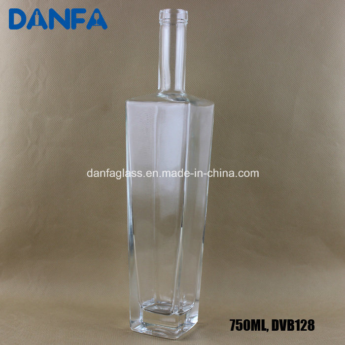 750ml Square Shoulder Glass Vodka Bottle (DVB128)