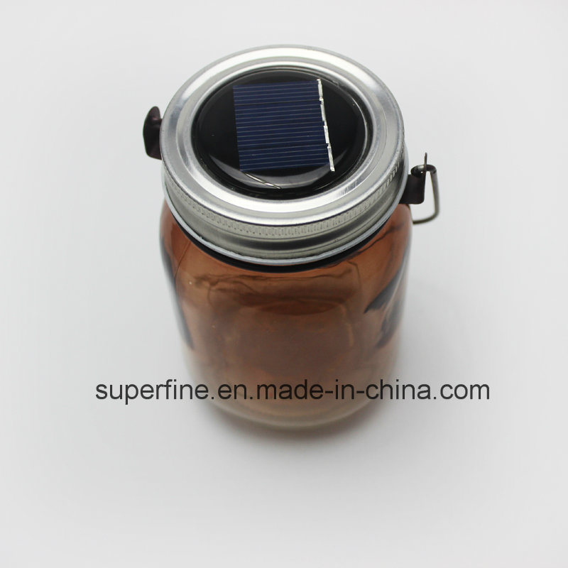 Romantic LED Solar Firefly Mason Jar Decorative Outdoor Lights