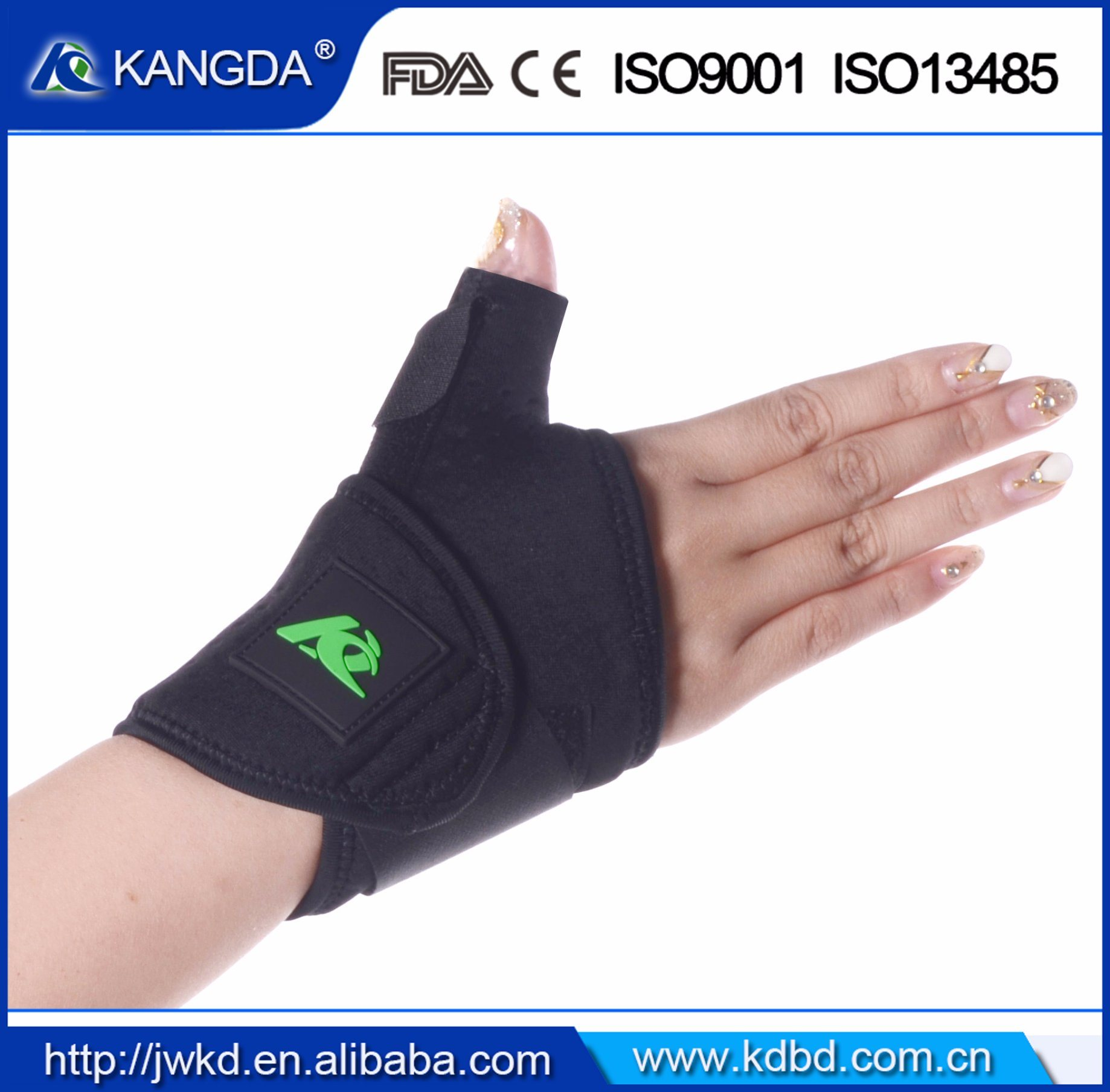 Thumb Finger Elastic Support Splint Brace Band Strap Belt