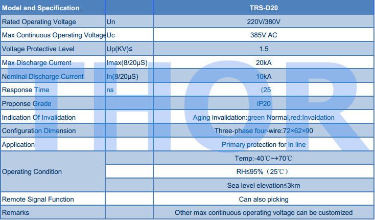 Lightning Arrester 10ka-20ka Surge Protector for CE