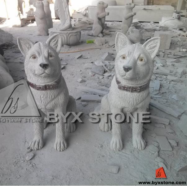 Granite Animal Stone Carving Sculpture / Statue for Outdoor Garden