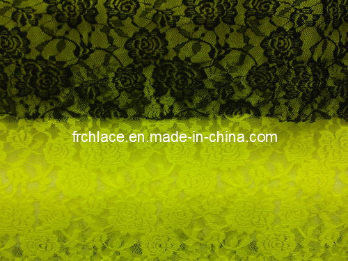 Solid Nylon Lace Fabric/Leopard Allover Lace Fabric