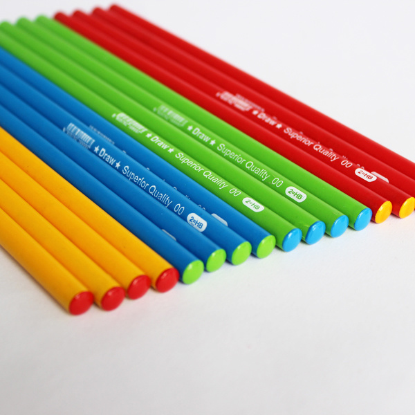 Wooden Pencils Hb with Colorfull Painting Body, DIP End (1612)