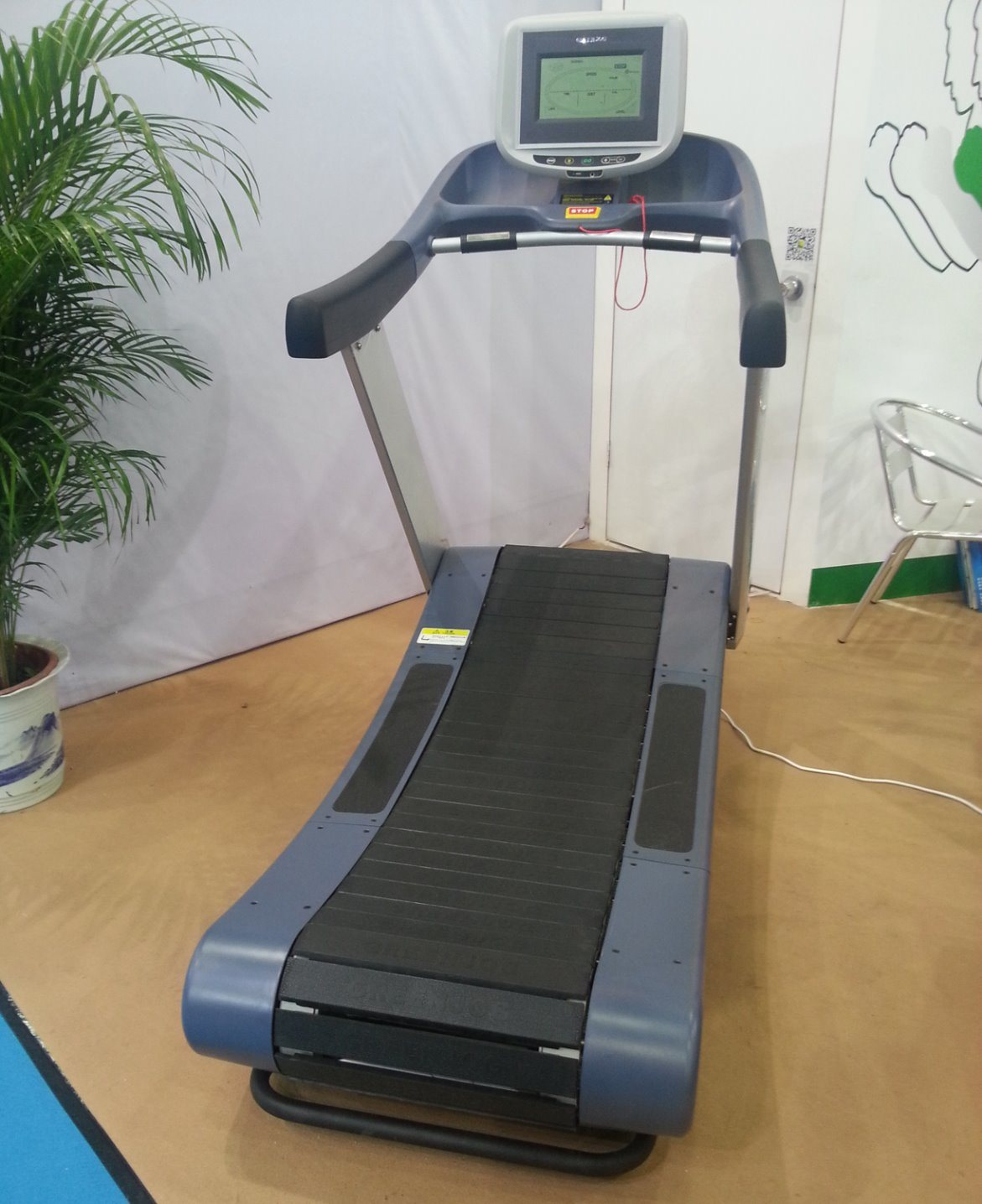 FCC Certificated Self Generating Treadmill / Woodway Curve Treadmill