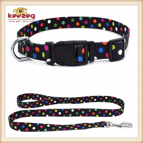 Quality Nylon Transfer Printing Dog Cat Collars& Leashes (KC0100)