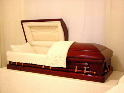 China Half Couch Wooden Casket Ta China Wooden Caskets