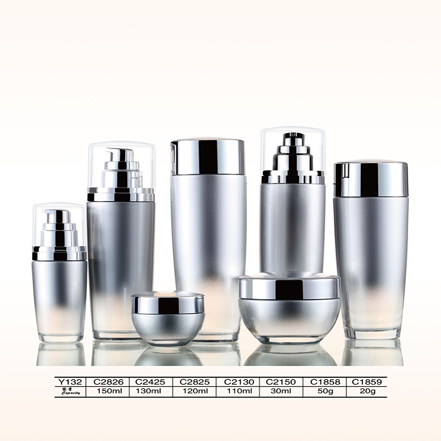 Luxury Empty Cosmetic Glass Airless Pump Spray Bottle and Jars