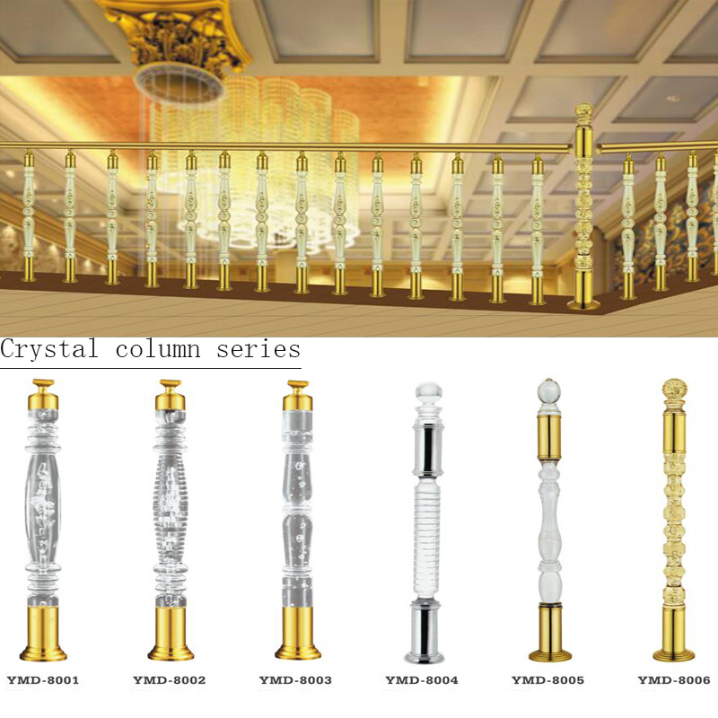 High Quality Acrylic Crystal Stair Railing Column Foshan