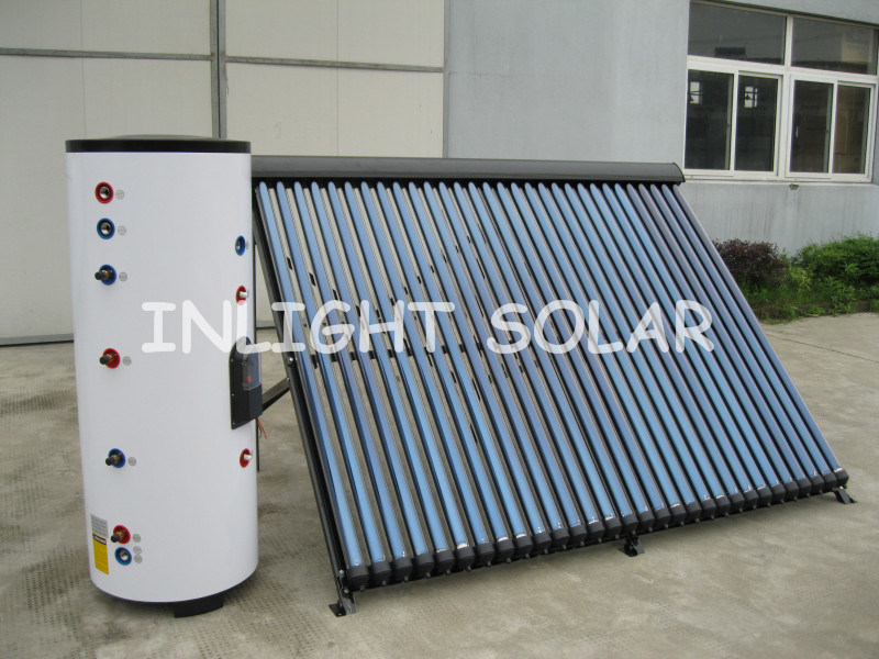 Split High Pressure Solar Water Heater with Double Coil