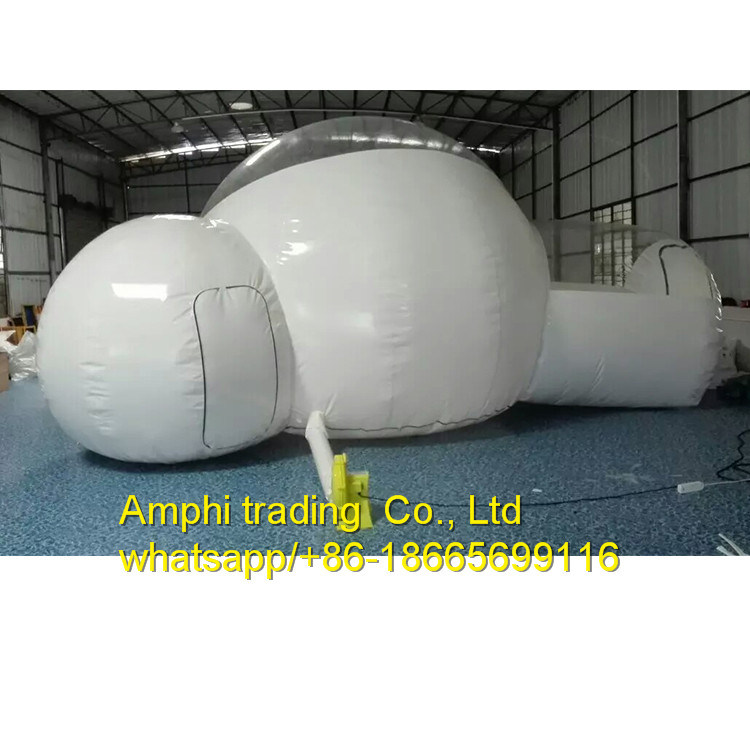 Durable Camping Inflatable Bubble Tent Transparent Clear Ball with Two Entrances