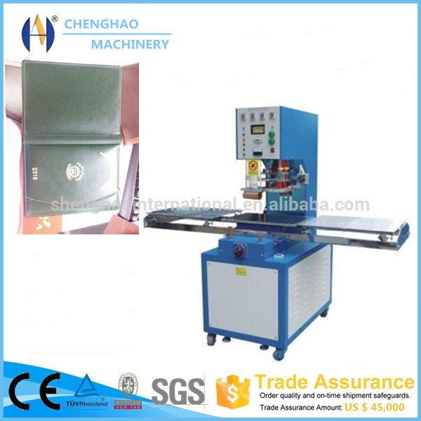 Single Head Pushing Plate High Frequency Welding Machine for Making Book Cover/PVC, PU. Leather File