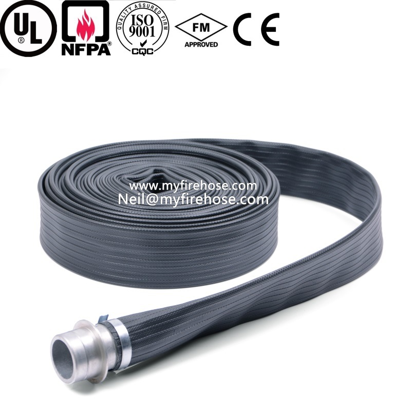 4 Inch Wear-Resisting Coated Nitrile Rubber Lined Fire Hose