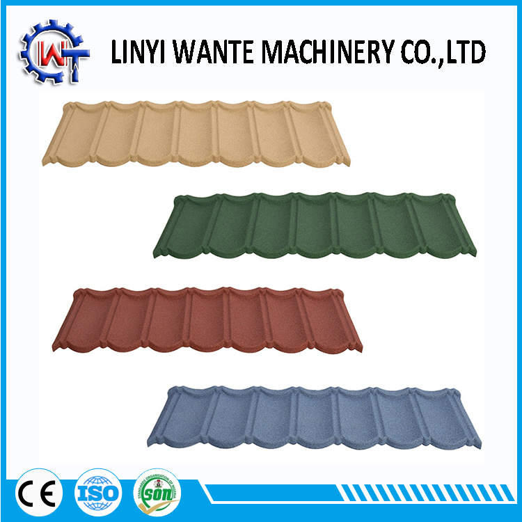 China Environment Friendly Stone Coated Metal Roof Tiles