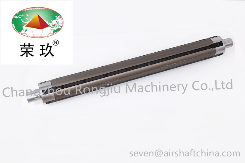 High Precision 3 Inch Aluminum Multi Bladder Type Air Shaft Used for Printing Machine