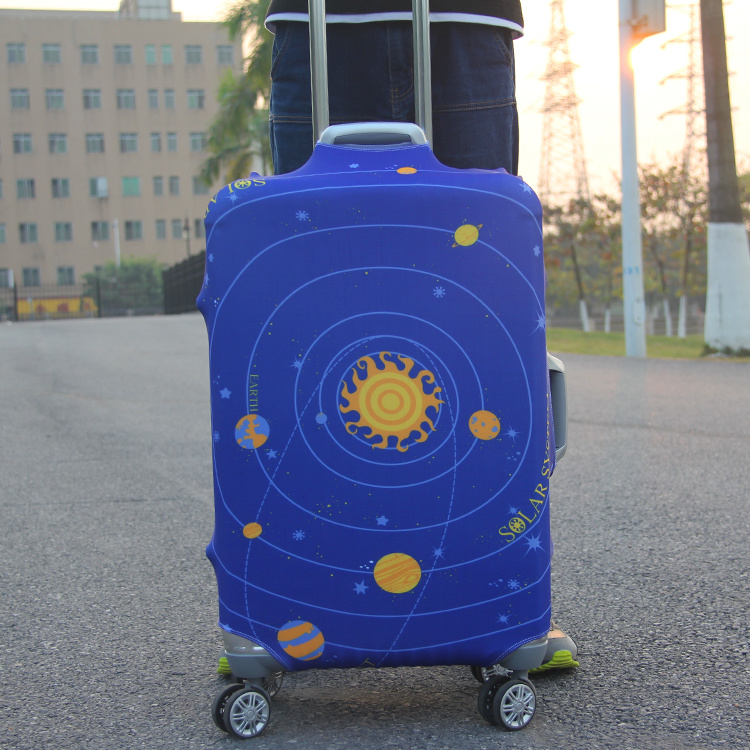Travel Protect Luggage Against Damages Custom Spandex Luggage Cover