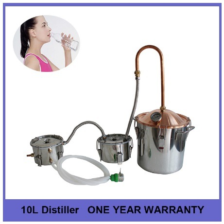 10L 3gal Medical and Beauty Red Copper Cap stainless Steel Moonshine Whiskey Rum Brandy Distiller
