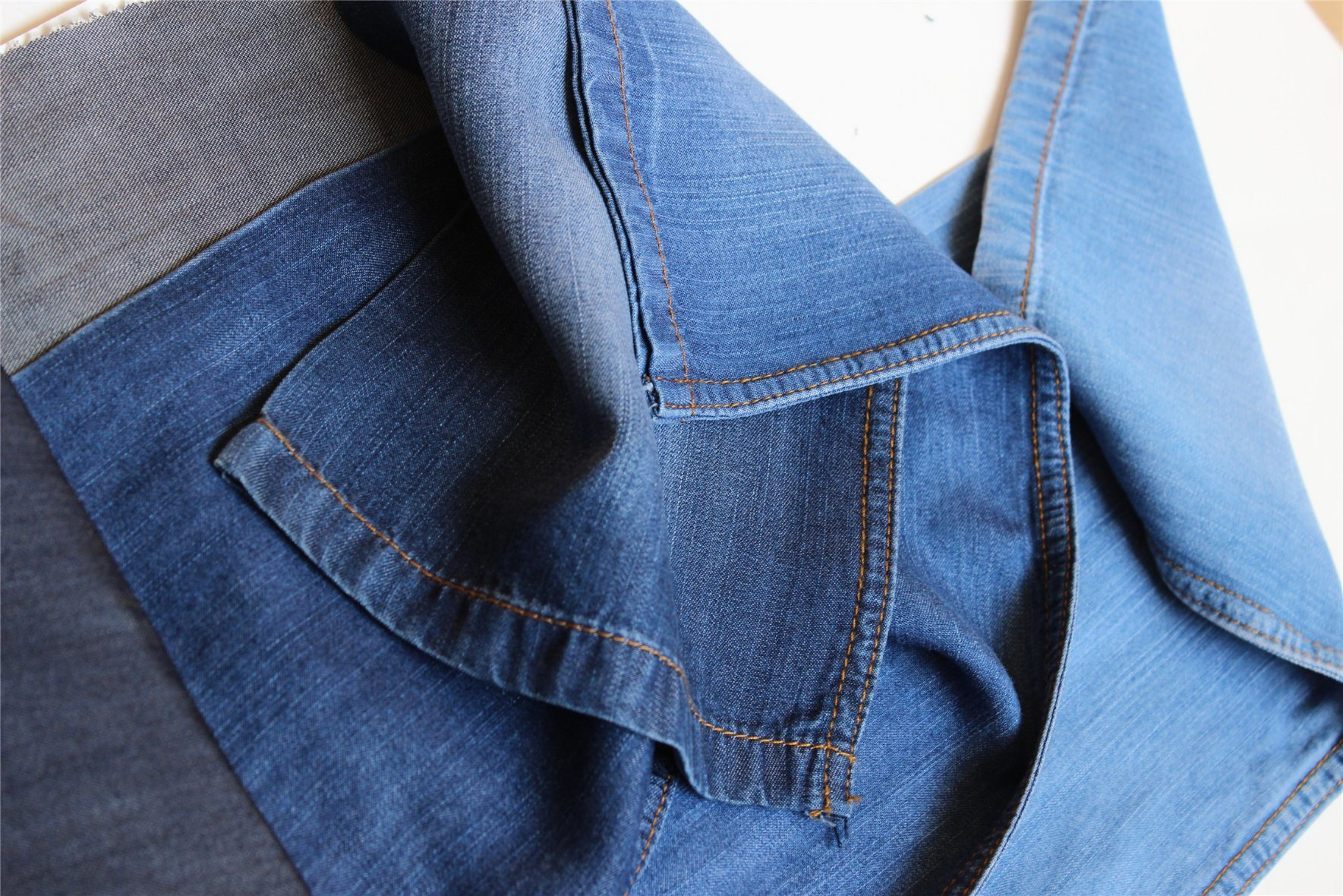 100% Lyocell Indigo Denim for T-Shirt