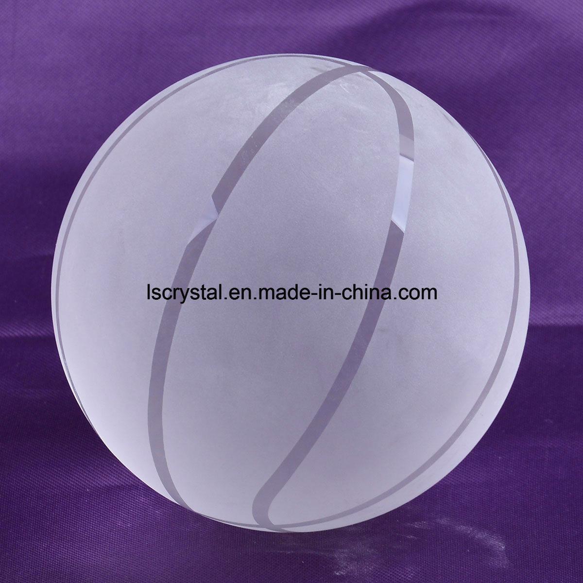 100mm Crystal Clear Glass Basketball for Souvenir Ball