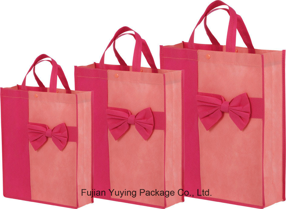 Laminating Non Woven Tote Shopping Bag with Customized Printing