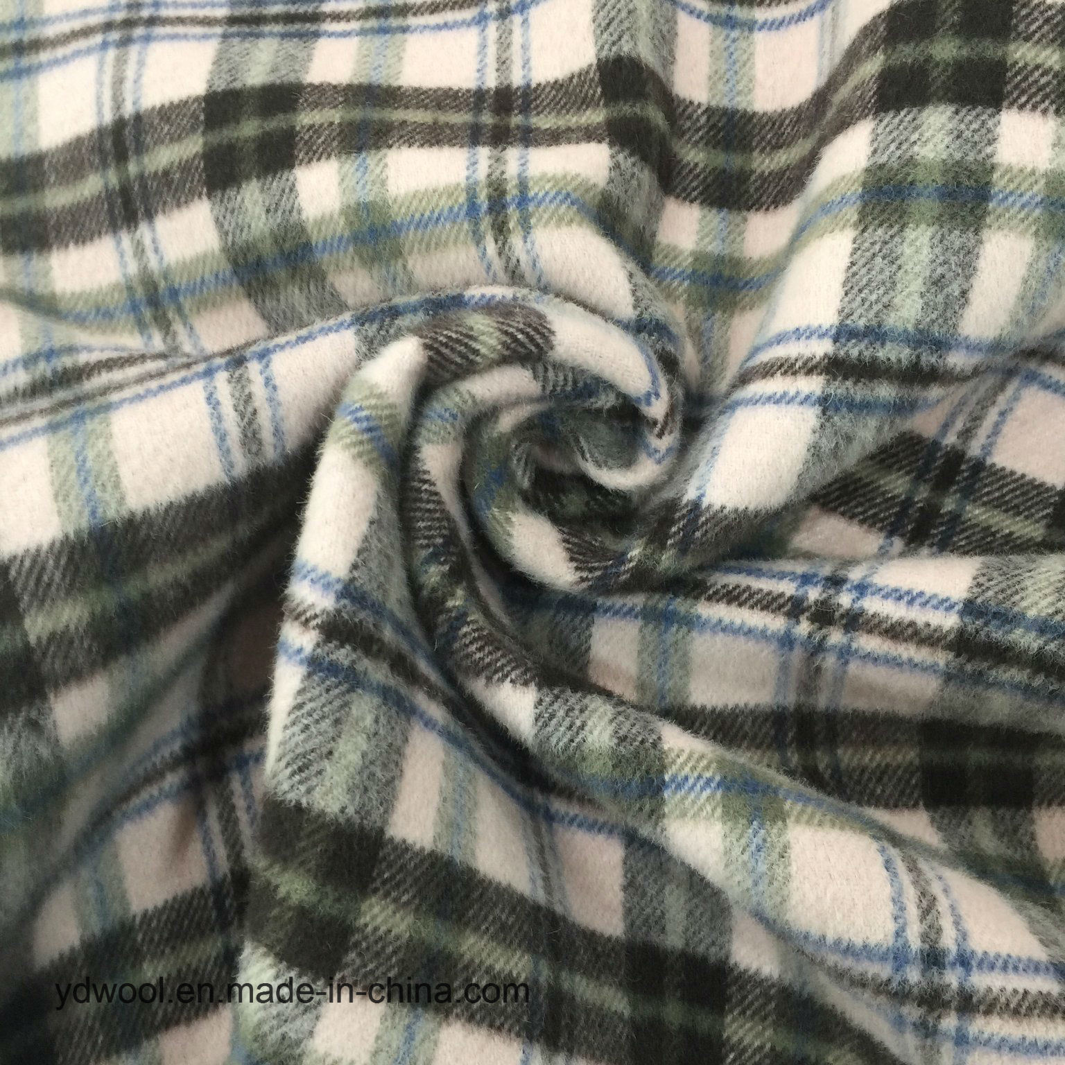 Double Face Check Wool Fabric Stock