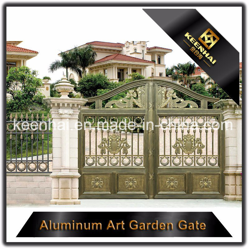 Powder Coated Metal Aluminum Security Garden Fence Gate for Villa
