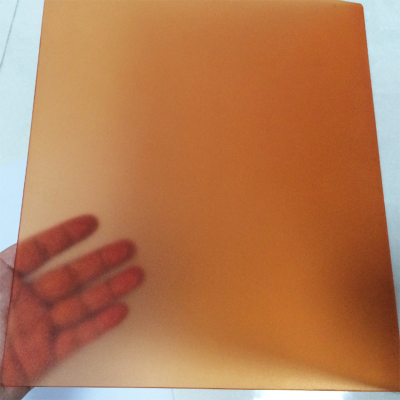 Frosted Polycarbonate Solid Sheet Hollow Sheet Corrugated PC Sheet with UV Protection