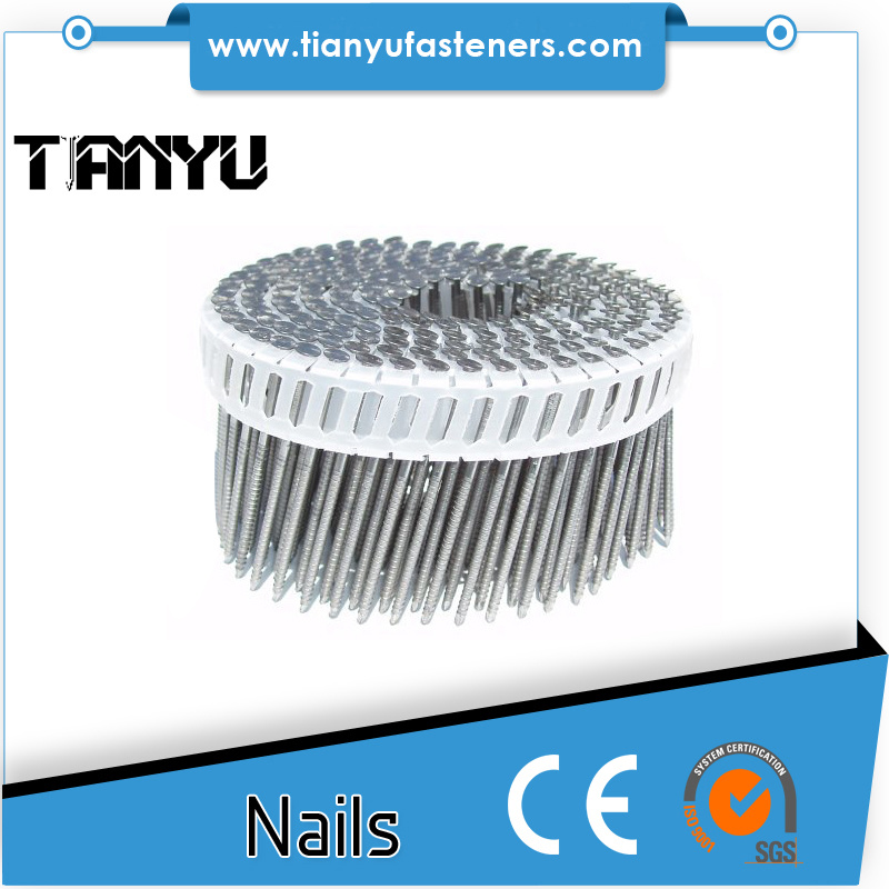 Harden Heat Treated Plastic Collation Coil Nails