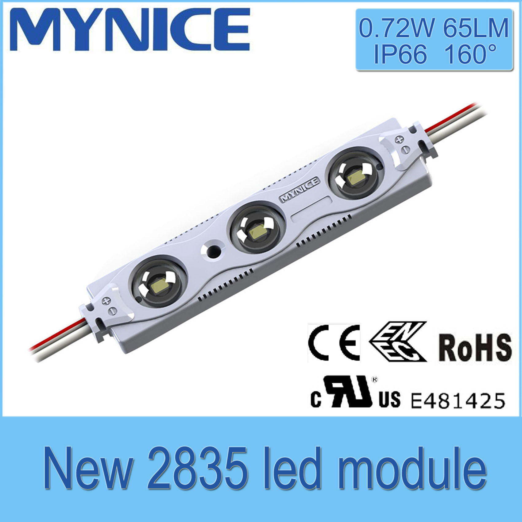UL/Ce/RoHS Economic LED Module for Sign 0.72W/PC, High Brightness 5 Years Warranty