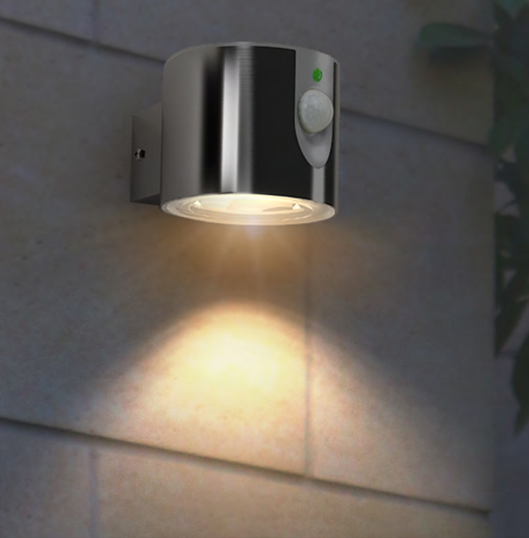 Solar Ss LED Garden Wall Light