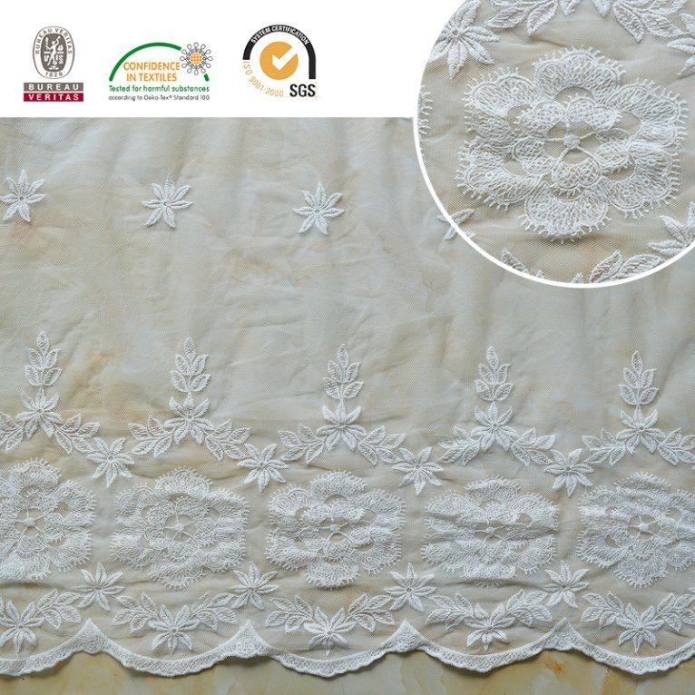 2017 Lace Fabric Floral Pattern Melt Poly Beautiful E30023